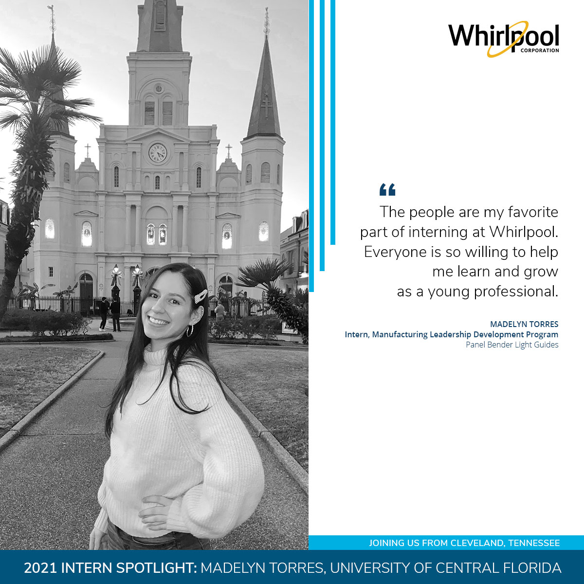 2021 Whirlpool Intern Madelyn Torres from University of Central Florida